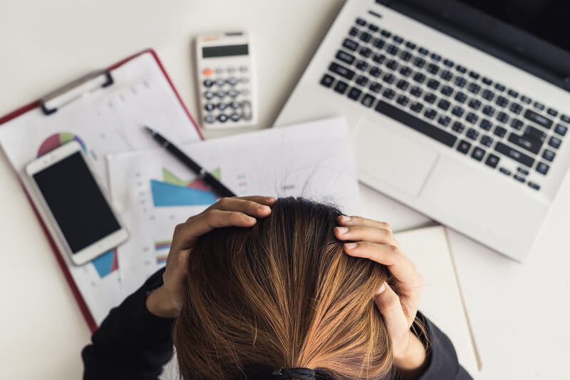 Woman Frustrated at work, ADHD, ADD Evaluations for Adults, FL