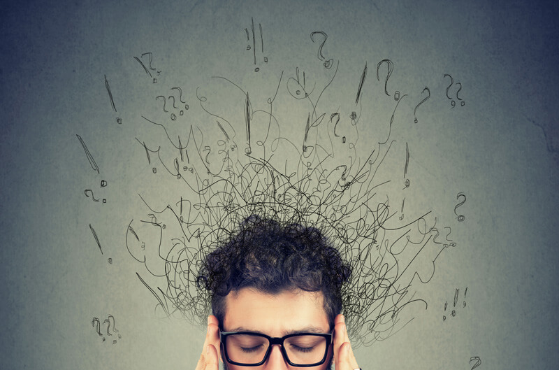 Man with a busy mind, ADHD Testing for Adults, Coral Gables, FL
