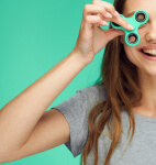 Woman with fidget spinner, Psychological Testing, Miami, FL