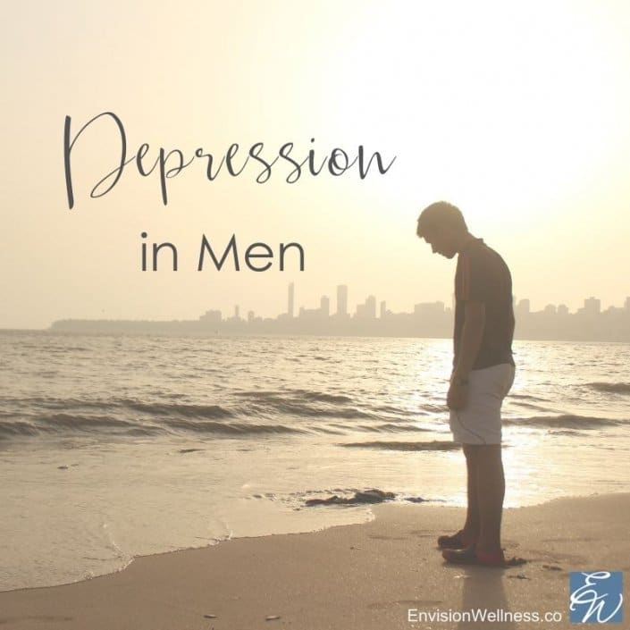 Man on the beach depressed Miami FL therapy